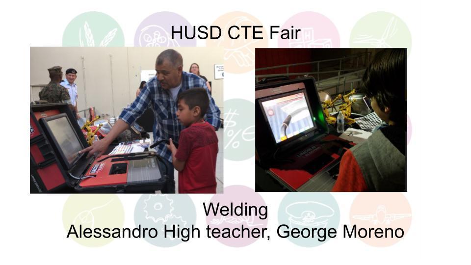 Welding Alessandro High teacher, George Moreno