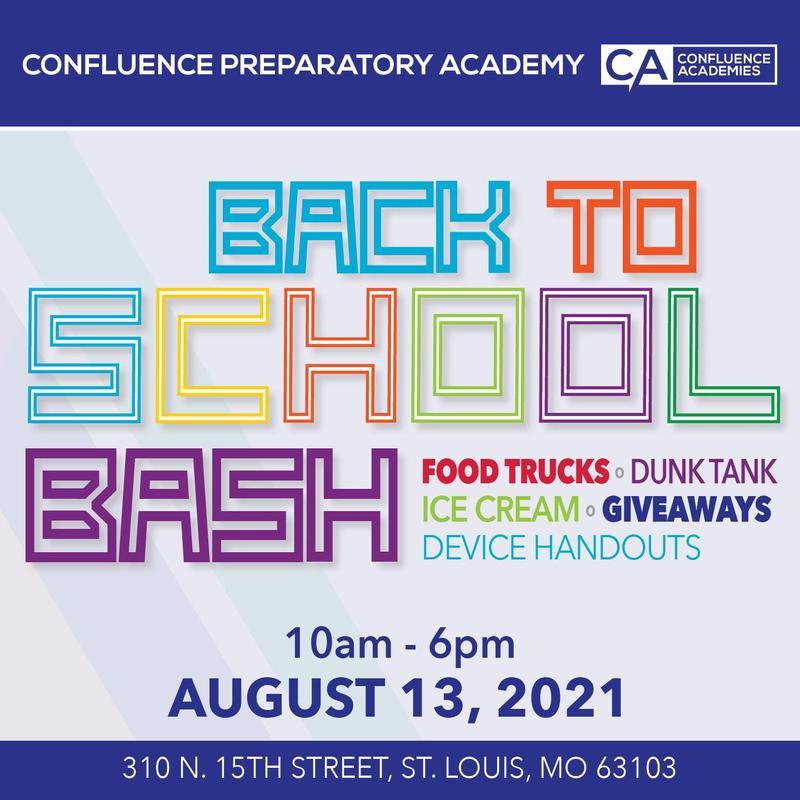 confluence academies back to school bash confluence preparatory academy charter schools