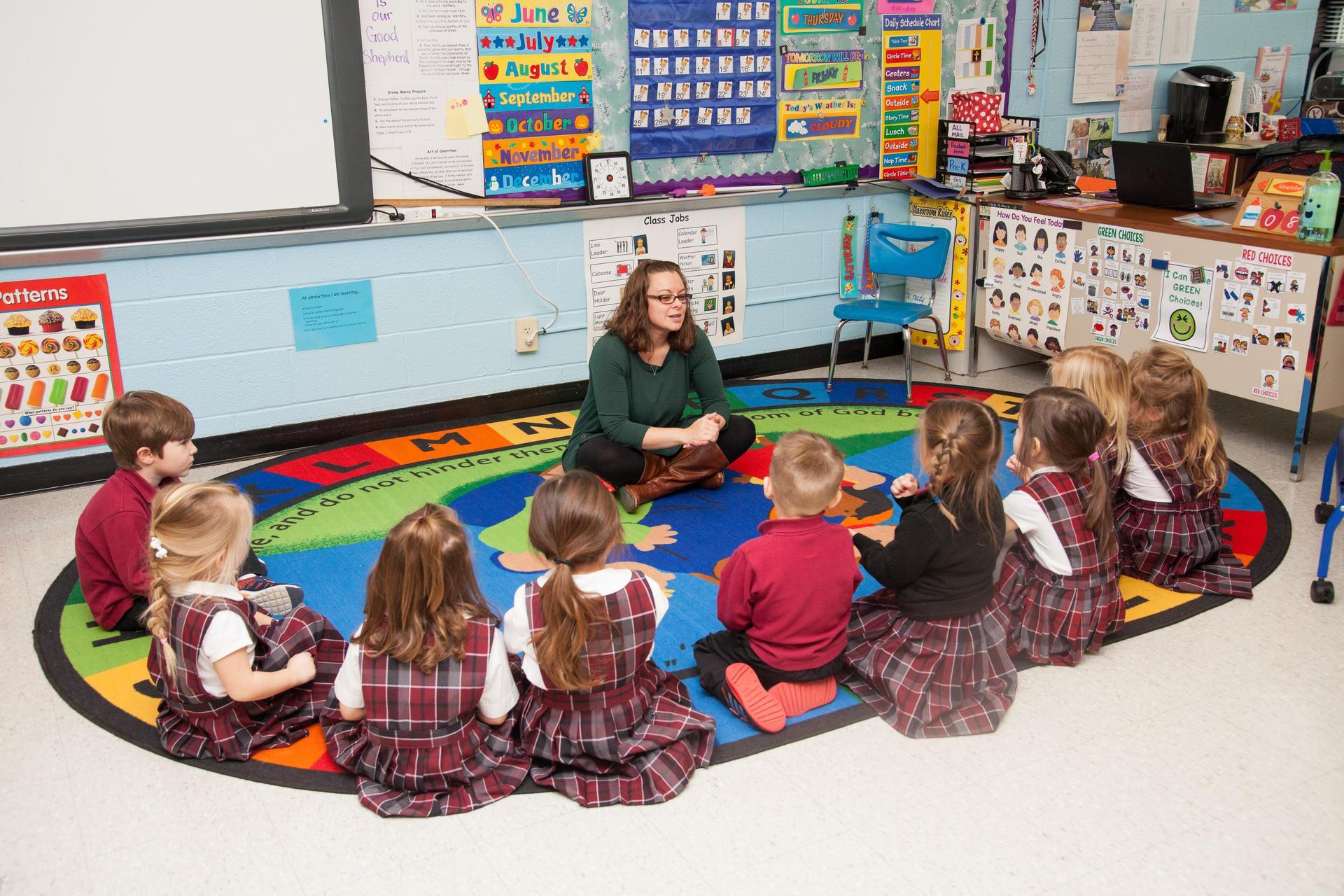 Preschool students learn