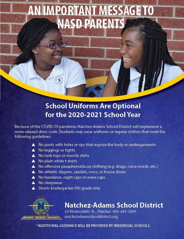 2020-2021 School Dress Code