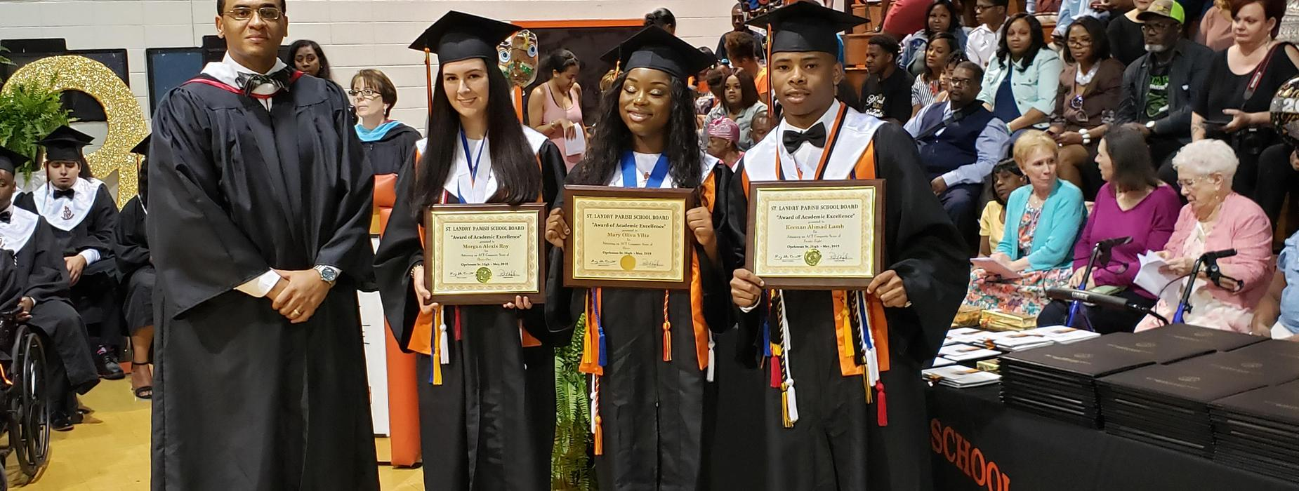 Morgan Ray, Mary Olivia Viltz, and Keenan Lamb received the SLPSB