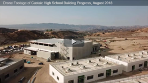 Aerial view of Castaic High School Building Progress, August 2018