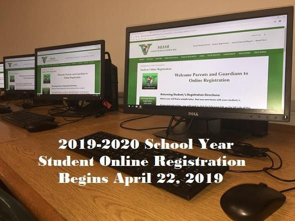 2019-2020 School Year Student Online Registration Now Open Featured Photo