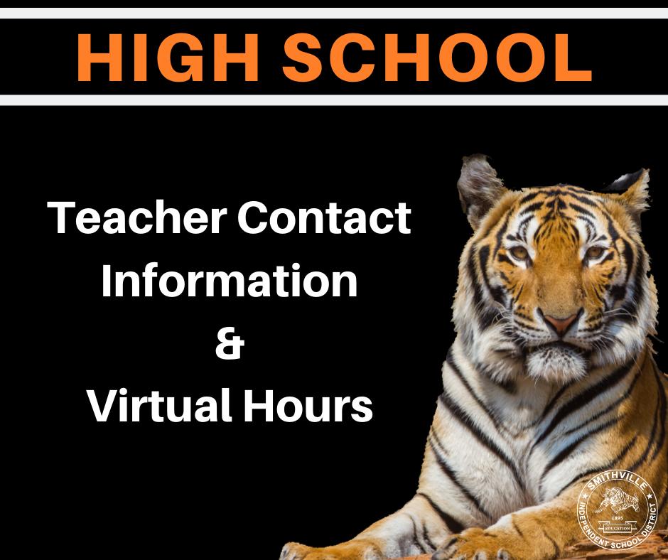 HS Teacher Contact Information & Virtual Office Hours