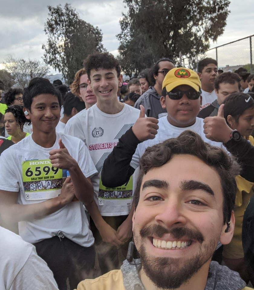 Selfie with runners