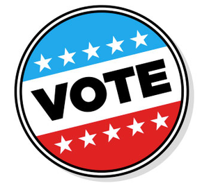 patriotic button that says vote