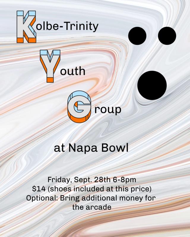 Youth Group - Napa Bowl! - September 28th - 6pm- 8pm Thumbnail Image