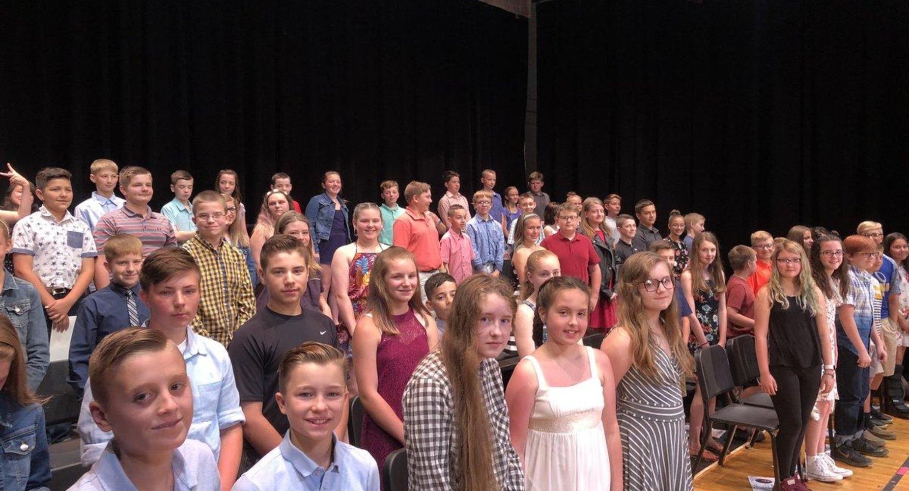 6th grade students moving up ceremony