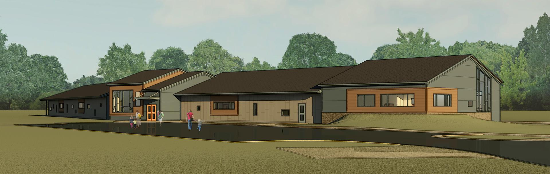 Artist rendering of the new building.