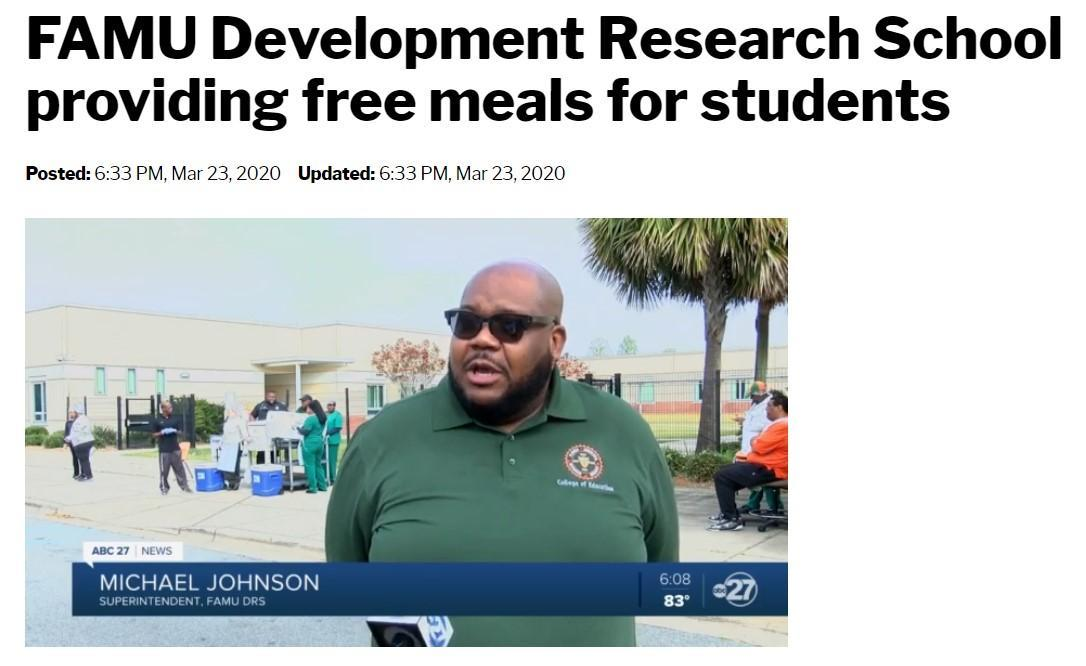 News Interview_FAMU DRS Provides Breakfast/Lunch