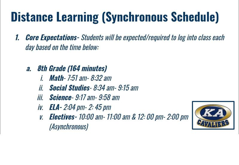 8th Grade Synchronous Schedule - 2020-2021 Featured Photo