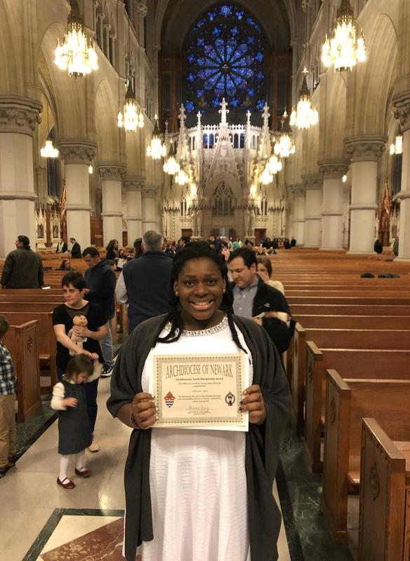 Christine Ajao'21 Receives Archdiocesan Youth Discipleship Award Thumbnail Image