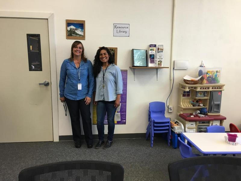 Jennifer Kimbal and Patty Llamas at the Parent Resource Center