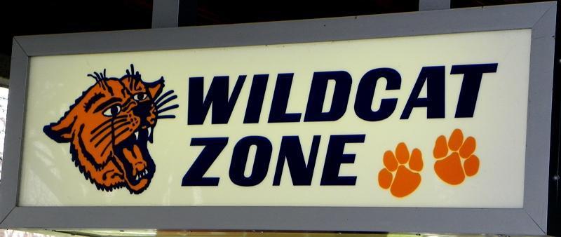 Wildcat Zone Sign