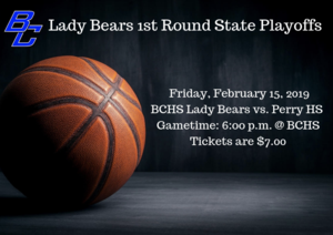 Lady Bears 1st Round State Playoffs