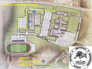 SJHS Student Drop Off Map