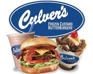 Culver's logo with food