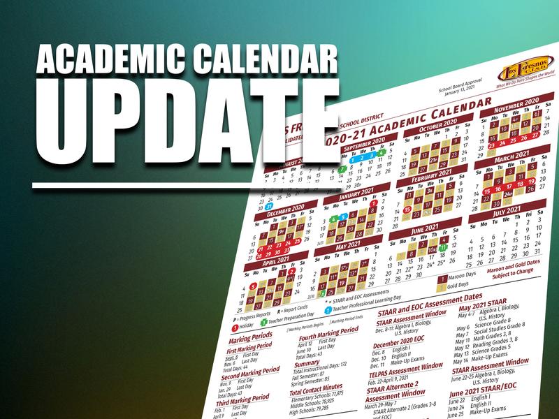 Updated Academic Calendar