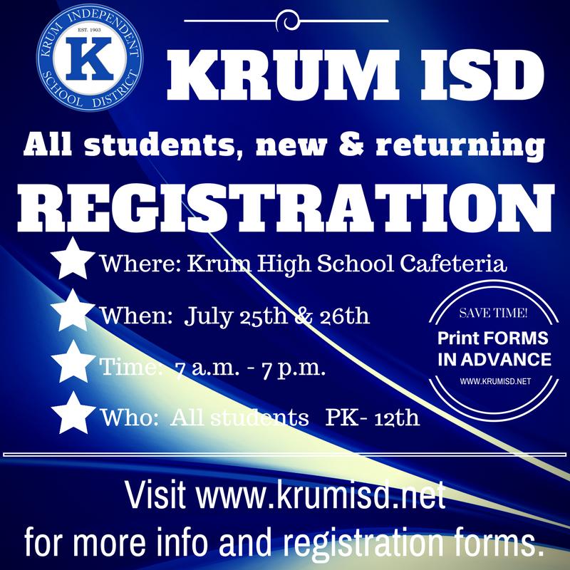 2018-19 Registration - July 25th & 26th 7:00 am - 7:00 pm at KHS Thumbnail Image