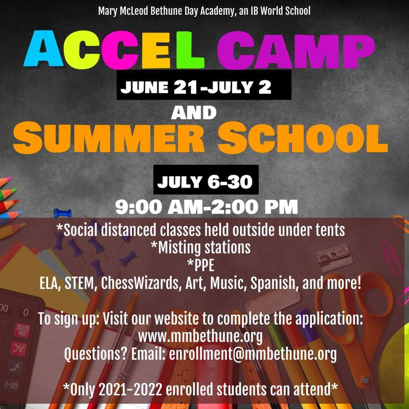UPDATED: ACCEL Camp June 21-July 2 and Summer School July 6-July 30 Featured Photo