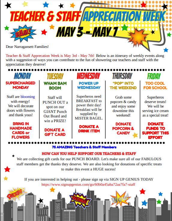 Staff Appreciation Week: May 3 - May 7 Thumbnail Image