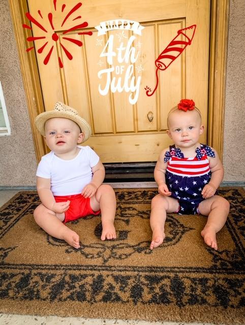 Twins on 4th of July
