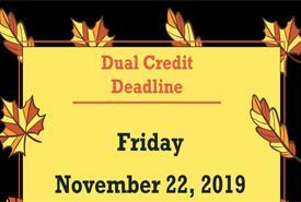 Dual Credit Deadline November 22 Featured Photo