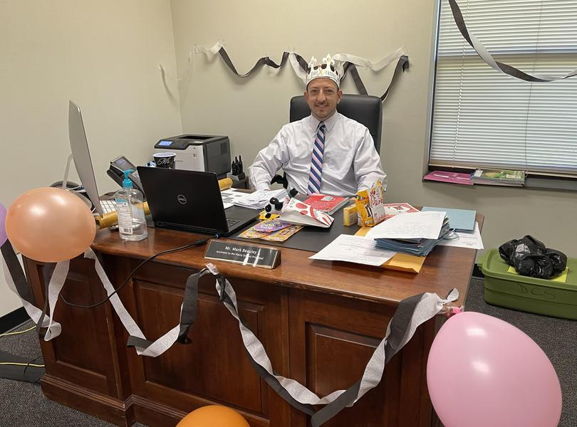 Mr. Beasley is King for the Day on April 30.