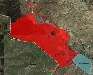 Holy Fire debris flow hazard map