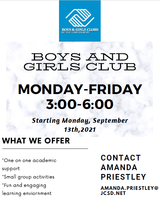 Boys and Girls Club Starting Monday, September 13th, 2021 Featured Photo