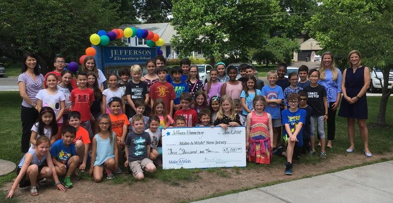 The Jefferson School community recently raised $3,000 for Make-A-Wish New Jersey, helping to grant the  wish of a special 5-year-old who will visit the Walt Disney World Resort with her family this summer.