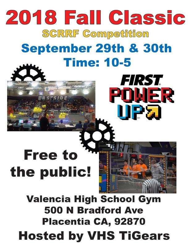 Fall Classic Robotics event! Friday, Sep 28 - Sunday, Sep 30 Thumbnail Image