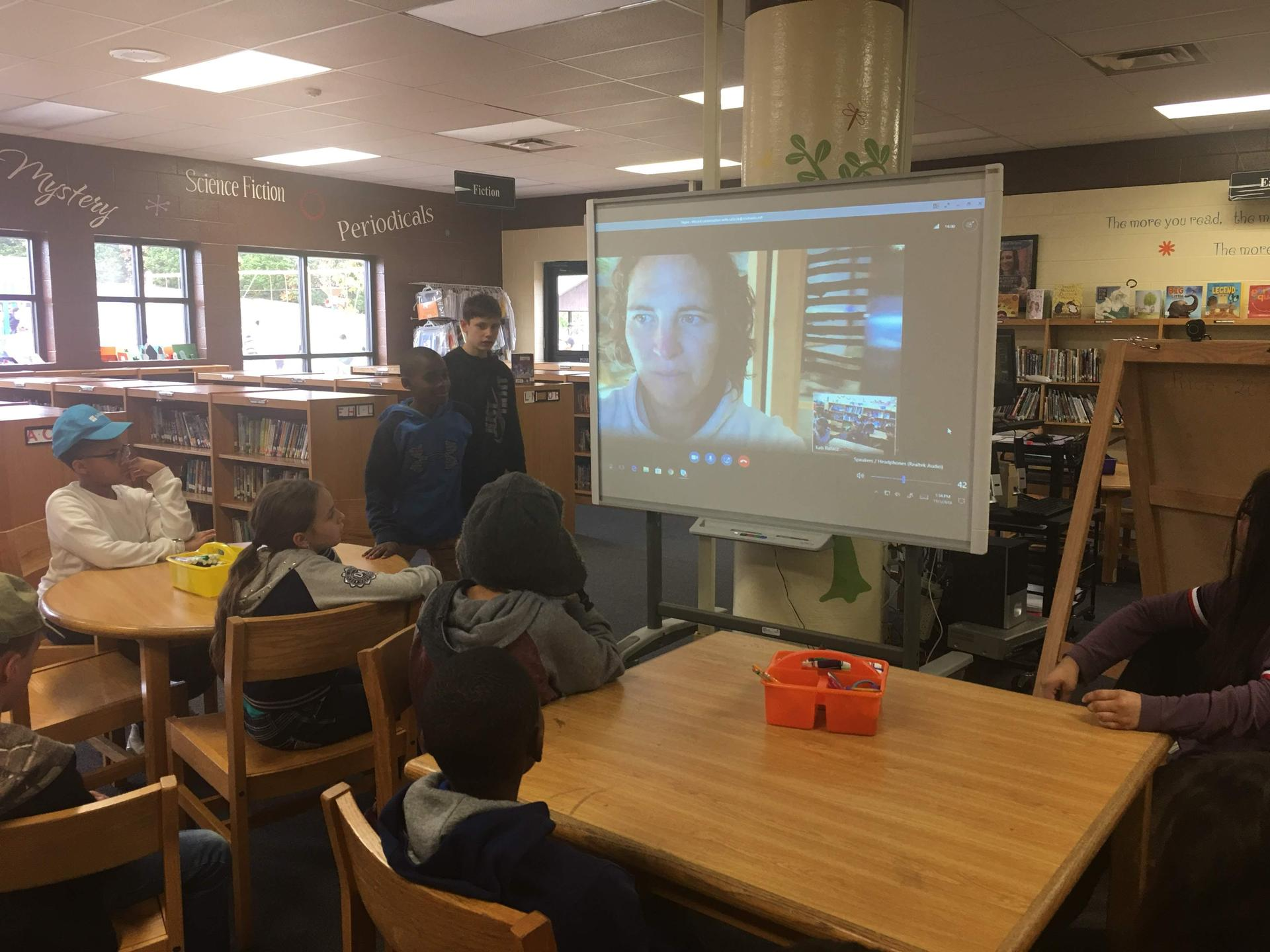 Skype Learning Author Visits