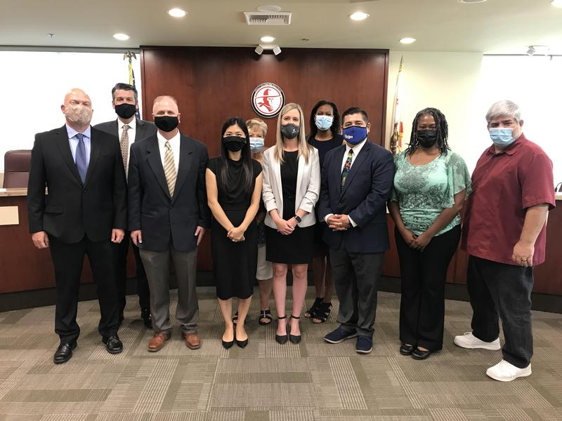 Governing Board Members with the new Assistant Principals at the June 17, 2021 Board Meeting