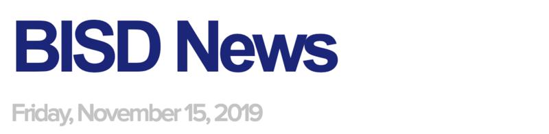 BISD News: 11/15/19