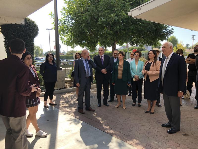 AGBU President, Mr. Berge Setrakian, visits our School Featured Photo