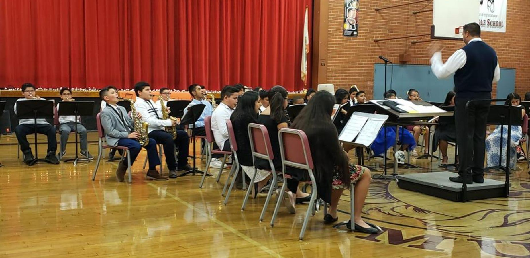 The Marshall Music Program was busy at rehearsal making sure their musicianship skills are sharp and on point. #UKNOW they rocked the gym at their Fall Music Concert and our Mustangs are ready for many more to come!