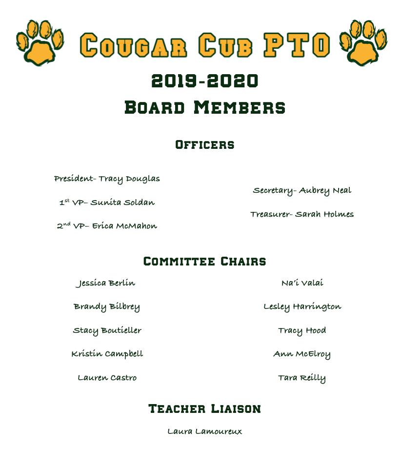 2019-2020 PTO Board