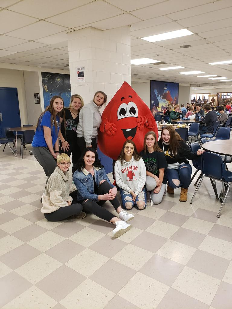 The Blood Drop visited PORTA HS for our Blood Drive
