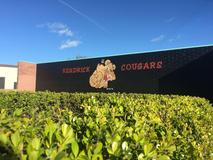 Picture of school mural that displays Kendrick's mascot.