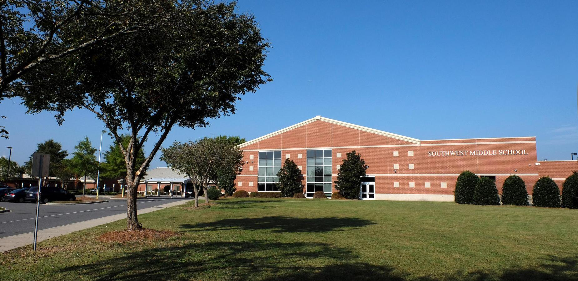 Front of Southwest Middle School