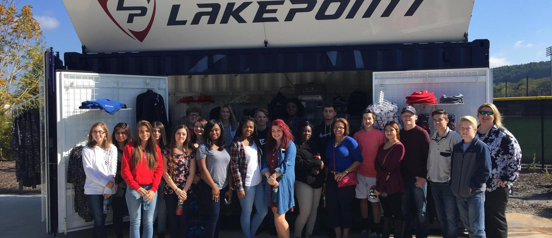 The Marketing Department had a fun time at Lakepoint!