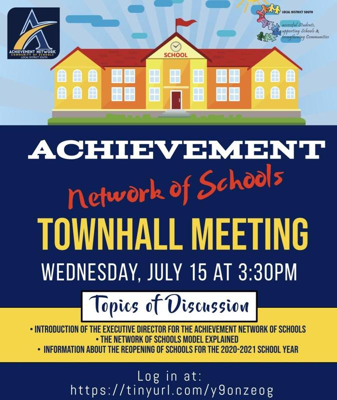 Achievement Network Townhall Meeting/Foro Communitario July 15 @ 3:30 p.m. Thumbnail Image