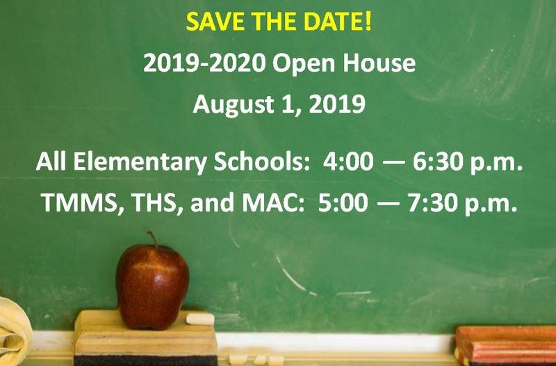 2019-2020 Open House Schedule Featured Photo