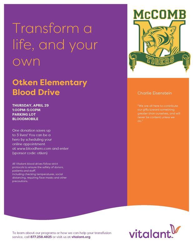 Otken Elementary Blood Drive 2021