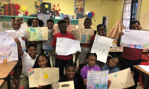 Mrs. Tyler's 4th grade  ELA class at North Elementary created visuals to support their understanding of a poem.