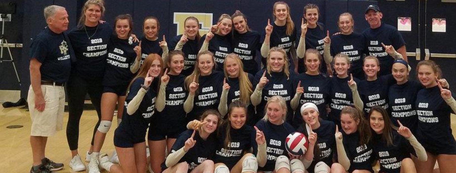 The FRSH Girls Volleyball team claimed the first section championship in program history.