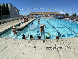 Ukiah Unified students learning to swim at City of Ukiah's Summer Safari Program