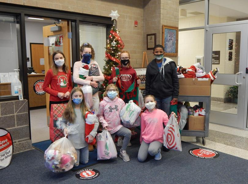 The Writing Club sponsored a Stocking Drive and received great response by our school community