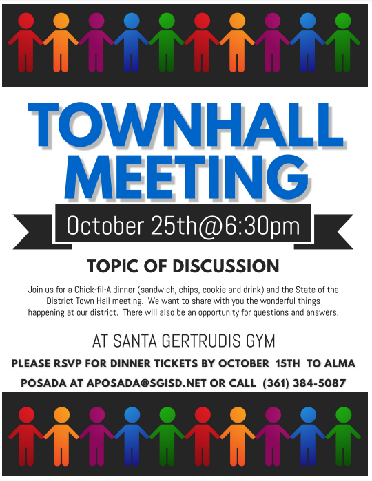 State of the District Town Hall Meeting October 25th 6:30 PM Featured Photo